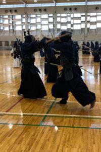 ジロさん京都大学剣道場へ