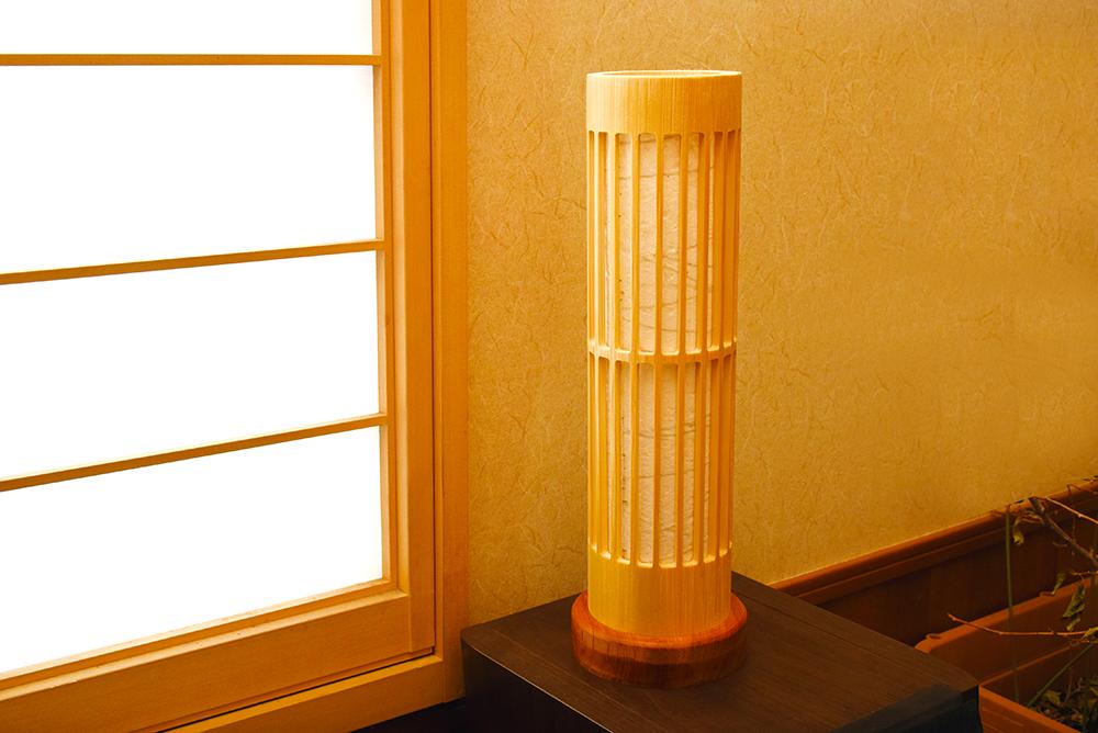 孟宗竹の竹行灯